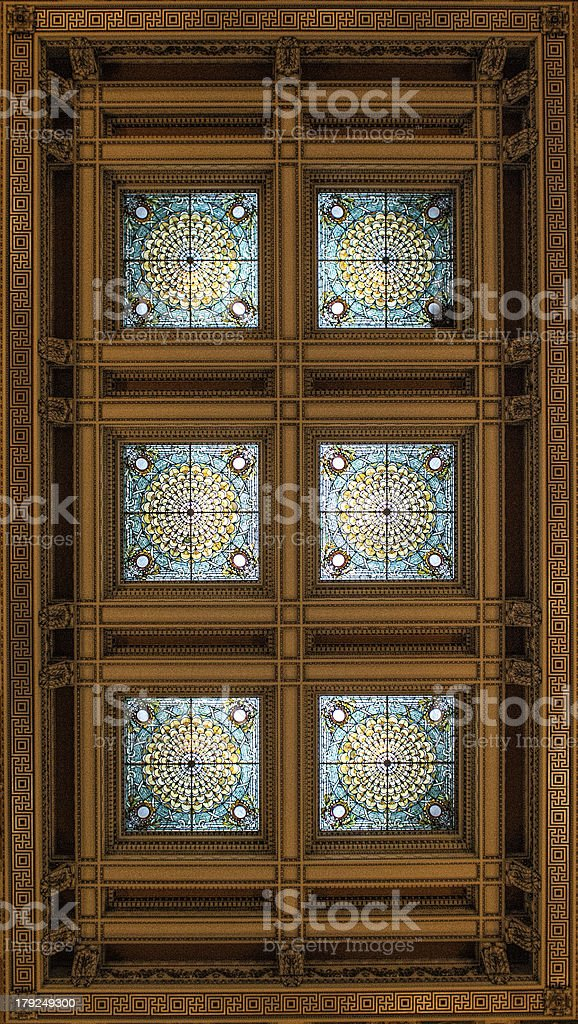 Traditional Architecture with Symmetric Ceiling View royalty-free stock photo