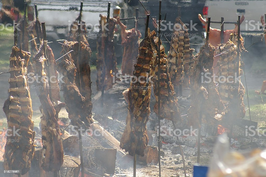 Traditional Argentine Asado stock photo
