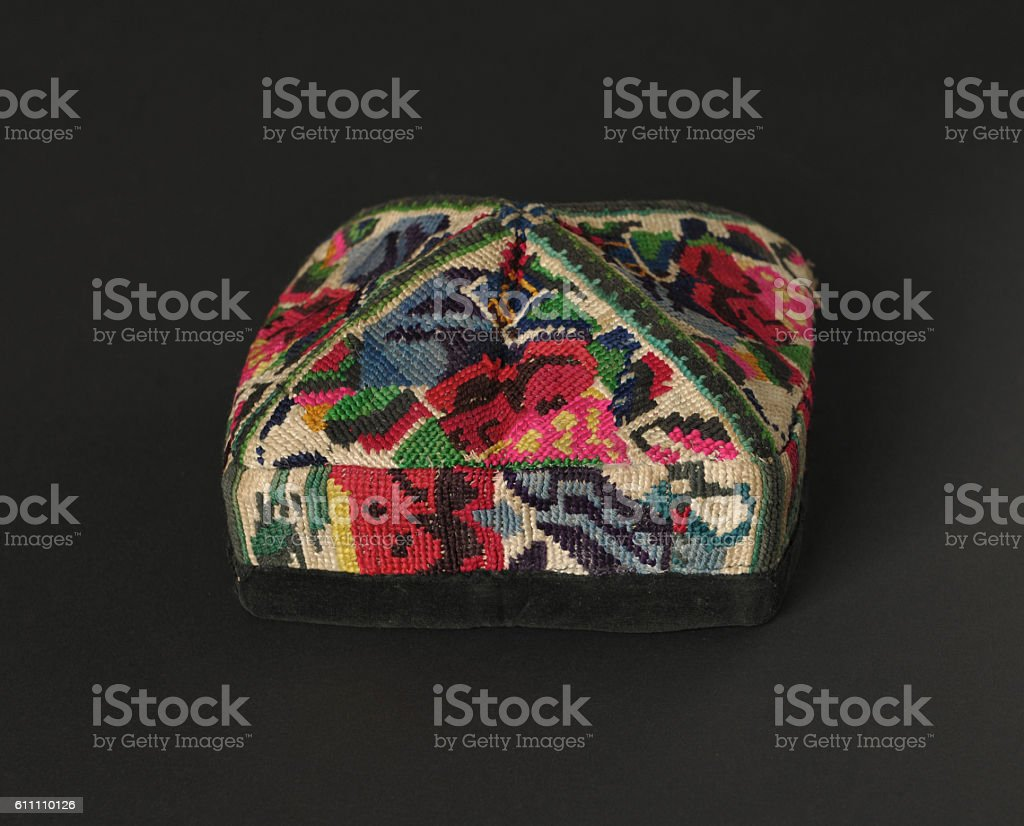traditional asian skullcap stock photo