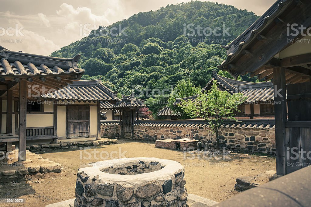 Traditional Asian Village stock photo