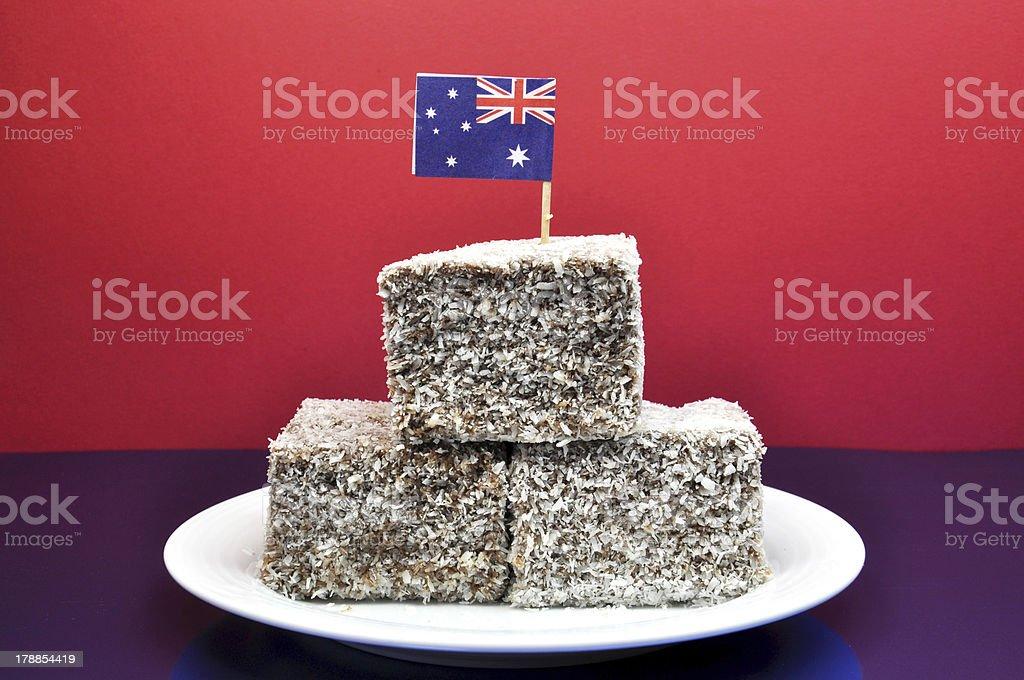 Traditional Australian Lamingtons royalty-free stock photo