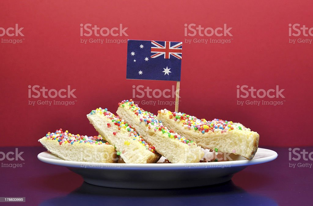Traditional Australian party  food, Fairy Bread stock photo