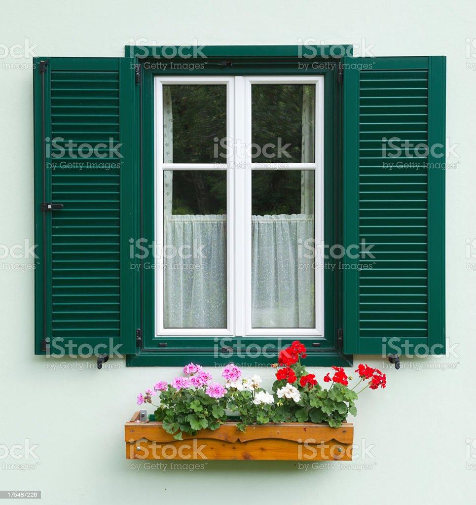 Traditional Austrian Flower Window (XXXL) royalty-free stock photo