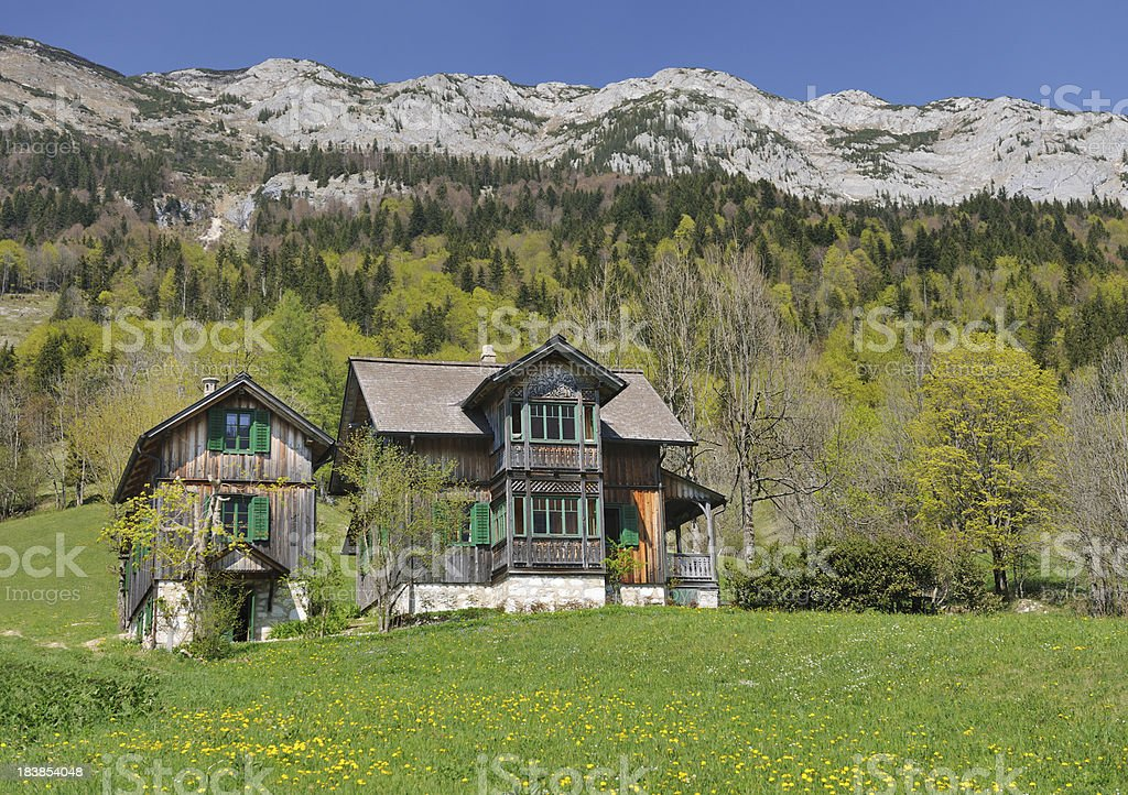 Traditional Austrian Timbered Country House (XXXL) stock photo