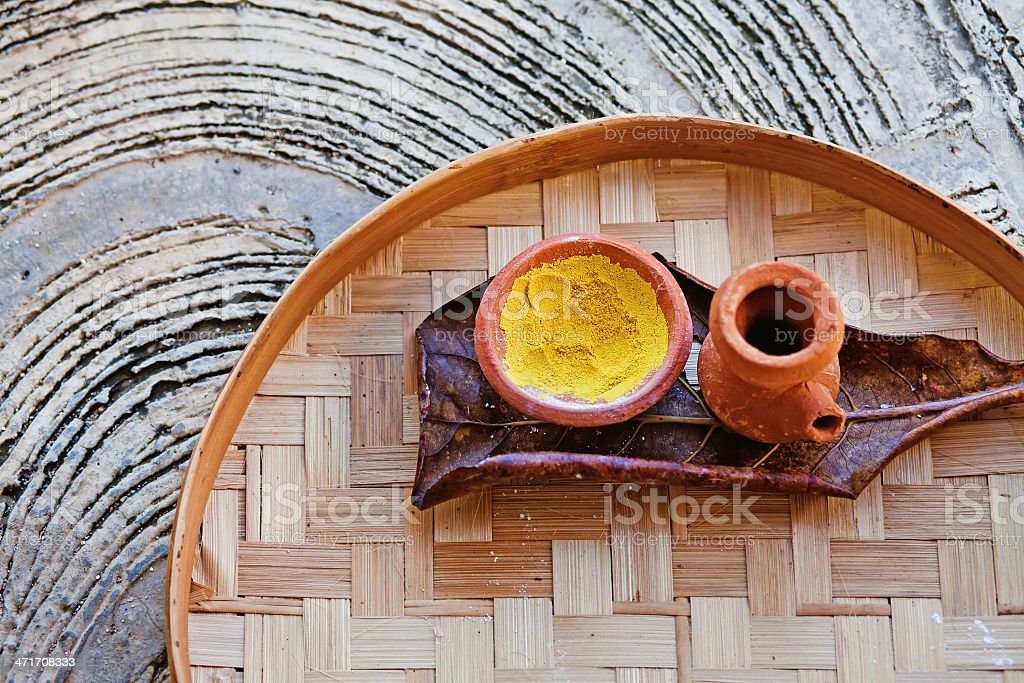 traditional ayurvedic and spa ingredients stock photo