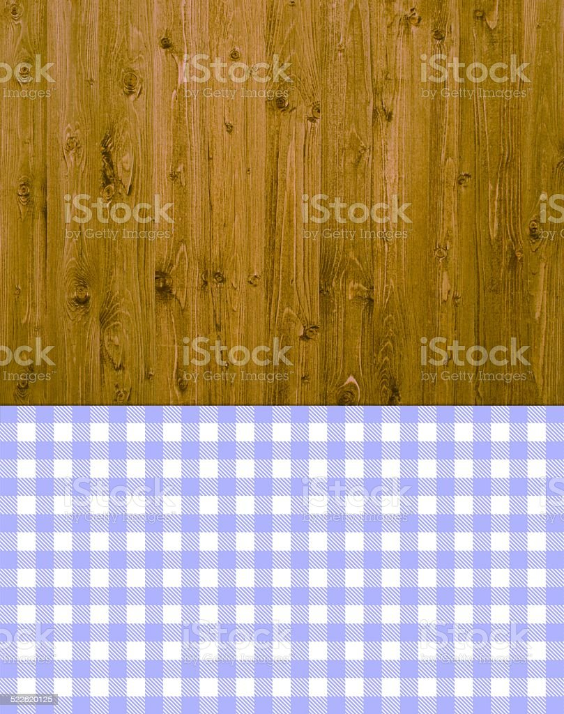 Traditional background - wood with violet - white tablecloth stock photo