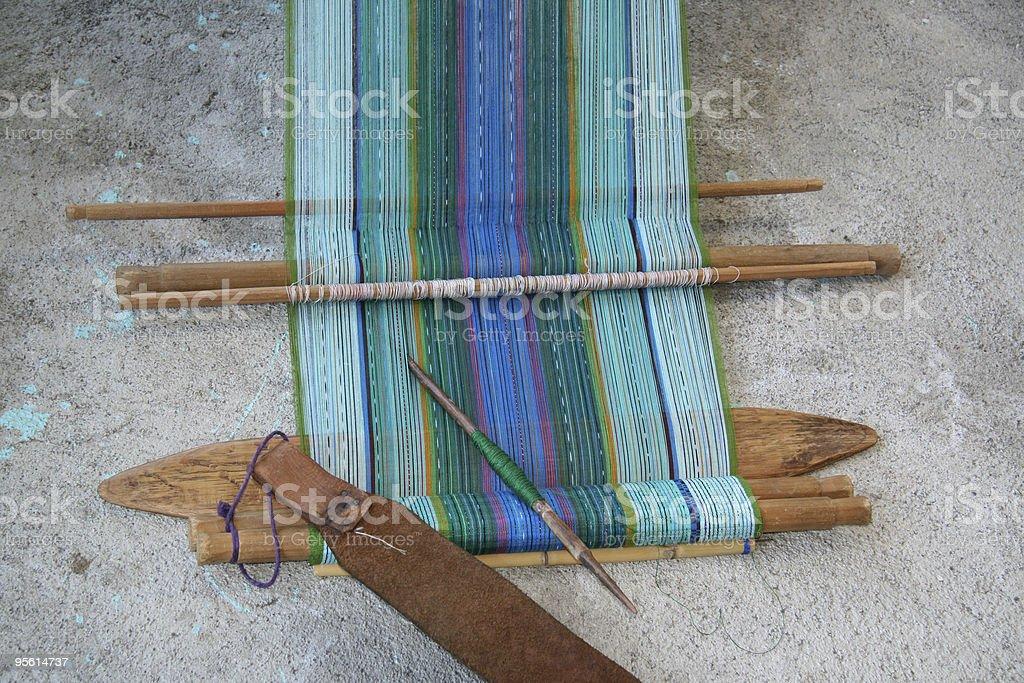 Traditional backstrap loom in Guatemala stock photo