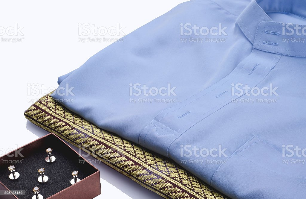 Traditional Baju Melayu stock photo