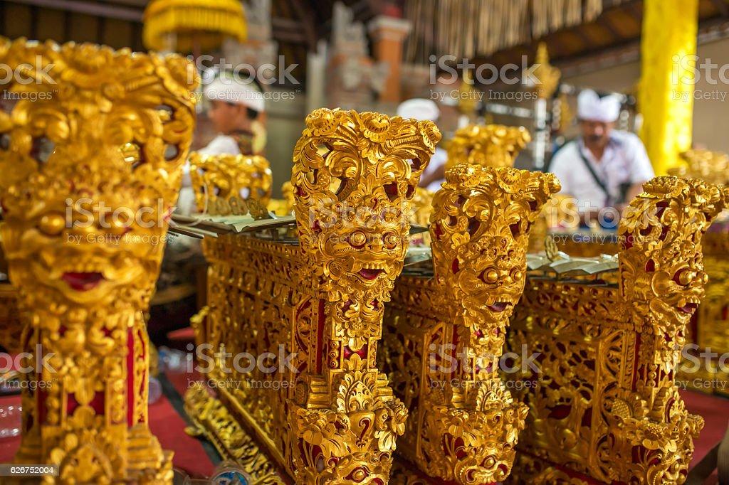 Traditional Balinese music instrument 'gamelan' stock photo