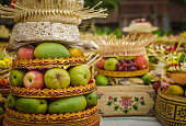Traditional balinese offerings to gods - Bali, Indonesia