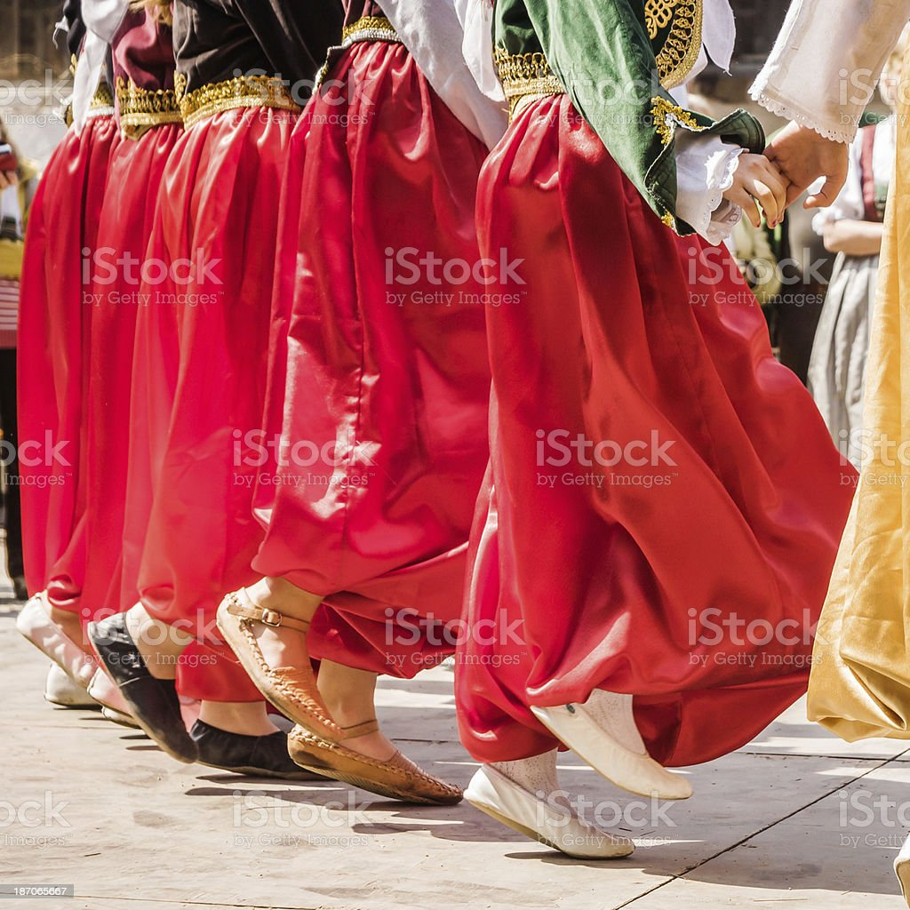 Traditional Balkans Dance stock photo