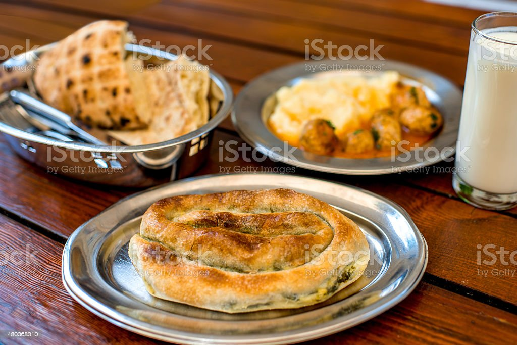 Traditional balkan's food stock photo