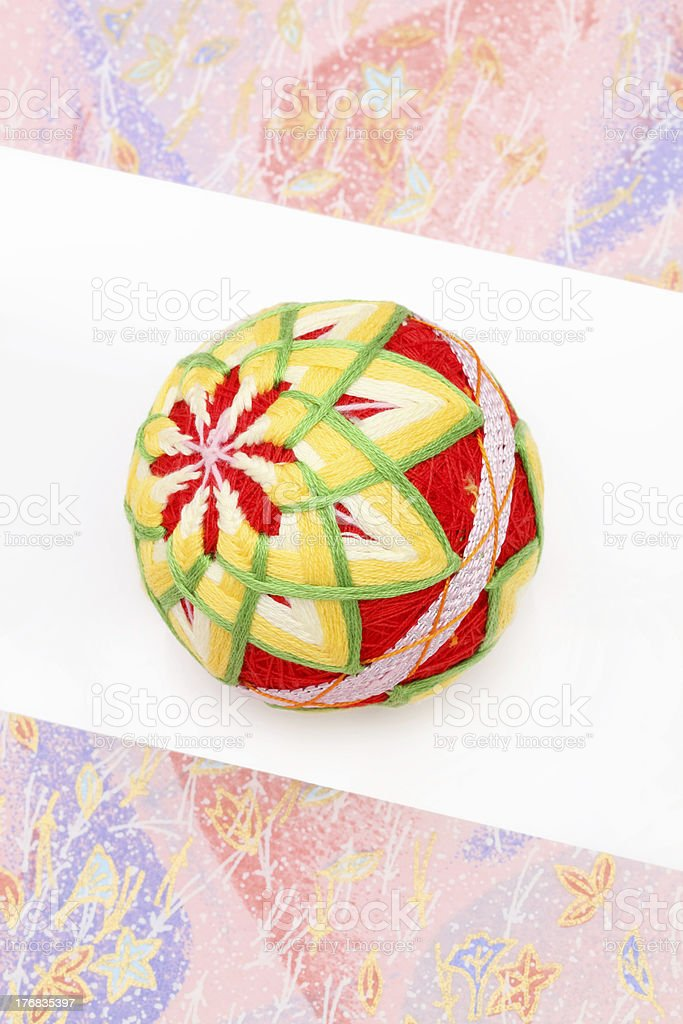 Traditional ball of japan royalty-free stock photo