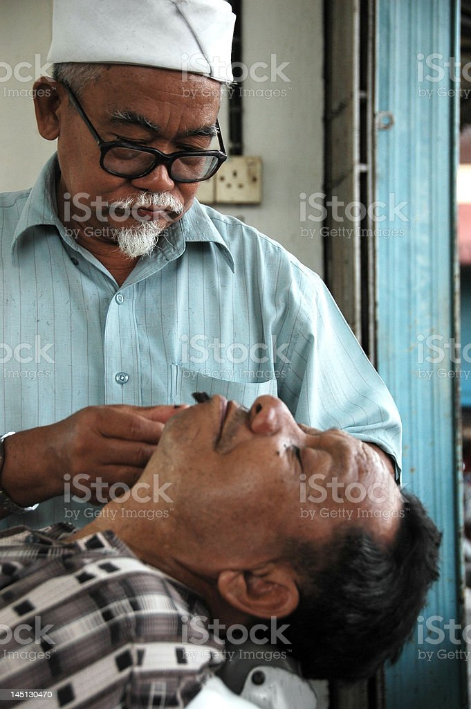 Traditional Barber royalty-free stock photo