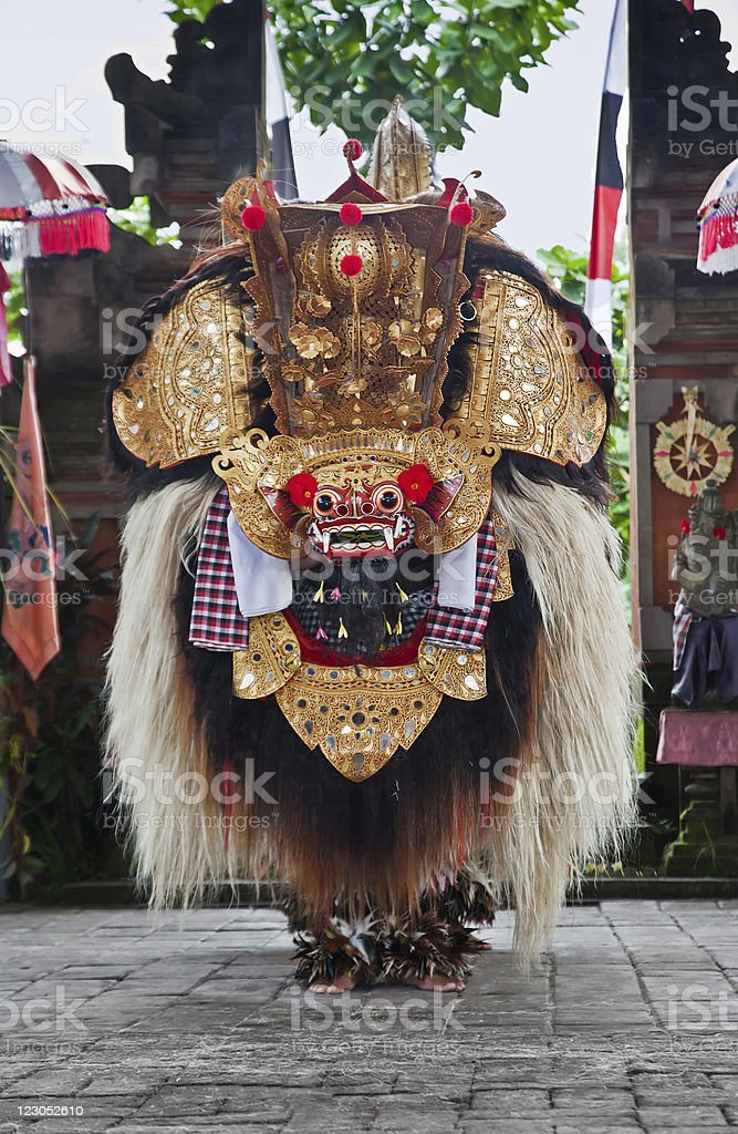 Traditional barong dance royalty-free stock photo