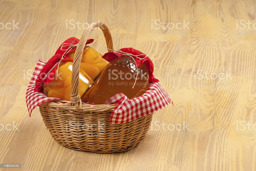 Traditional basket royalty-free stock photo