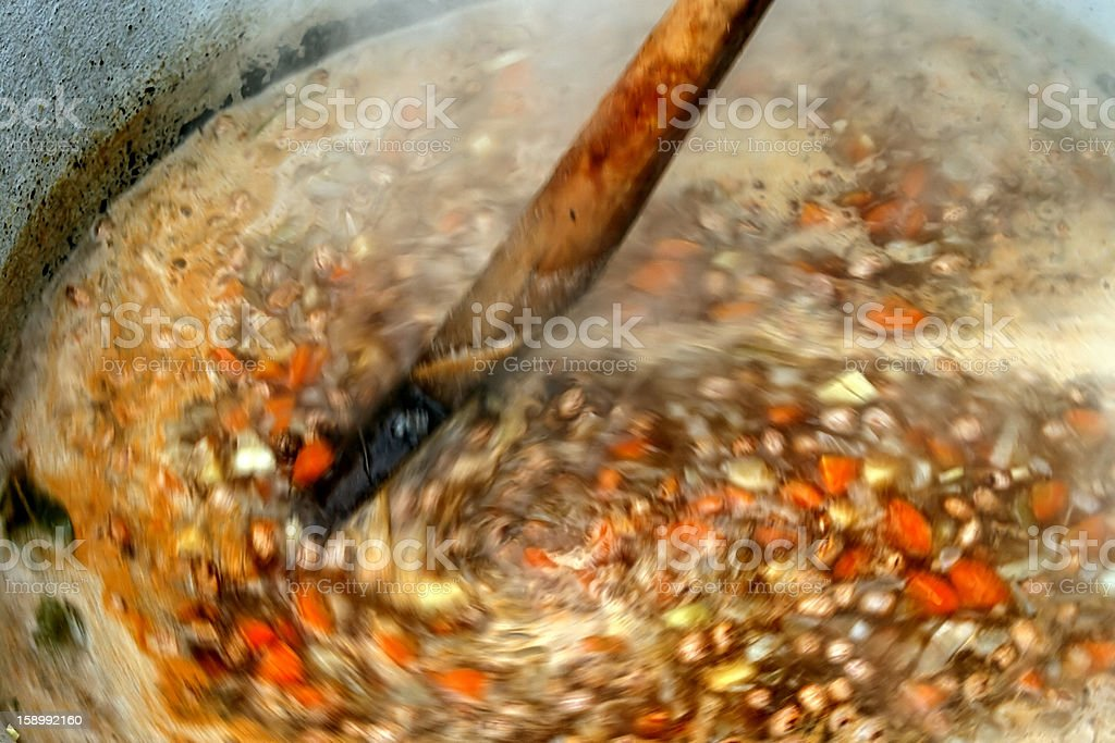Traditional bean soup with vegetables royalty-free stock photo