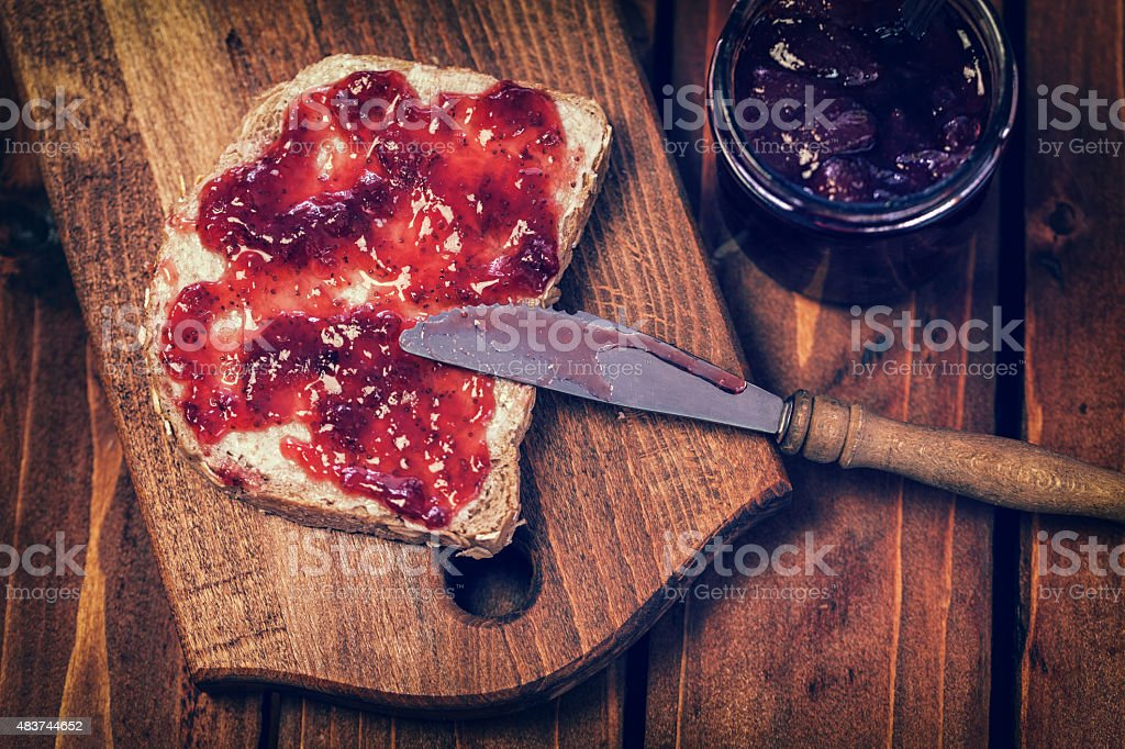 Traditional Belgium Breakfast stock photo