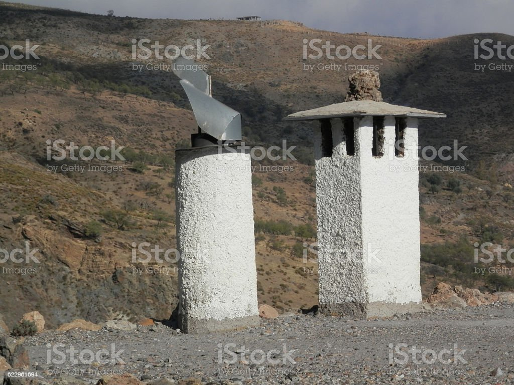 Traditional Berber Chimney stock photo