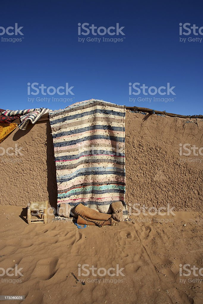 Traditional berber mud house stock photo