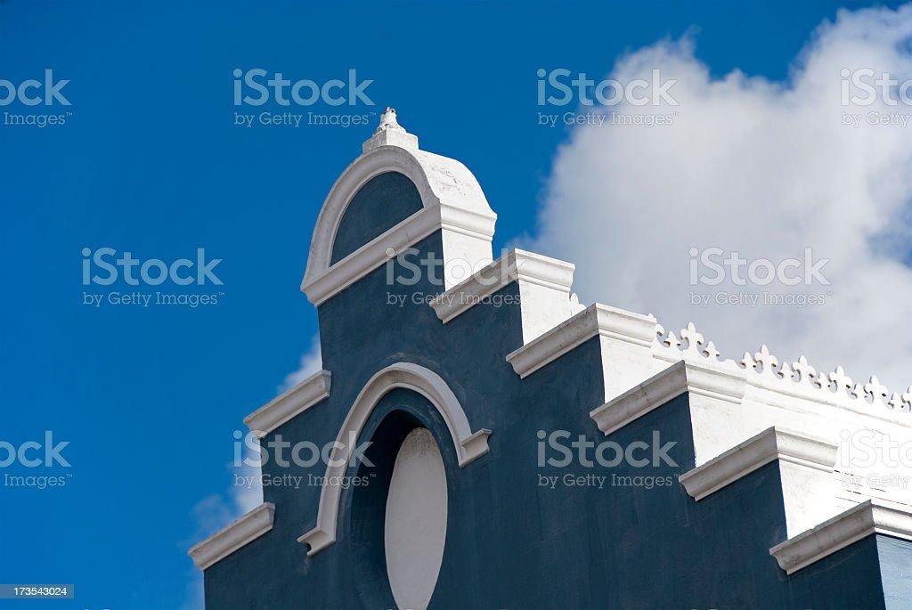 Traditional Blue Bermuda church stock photo