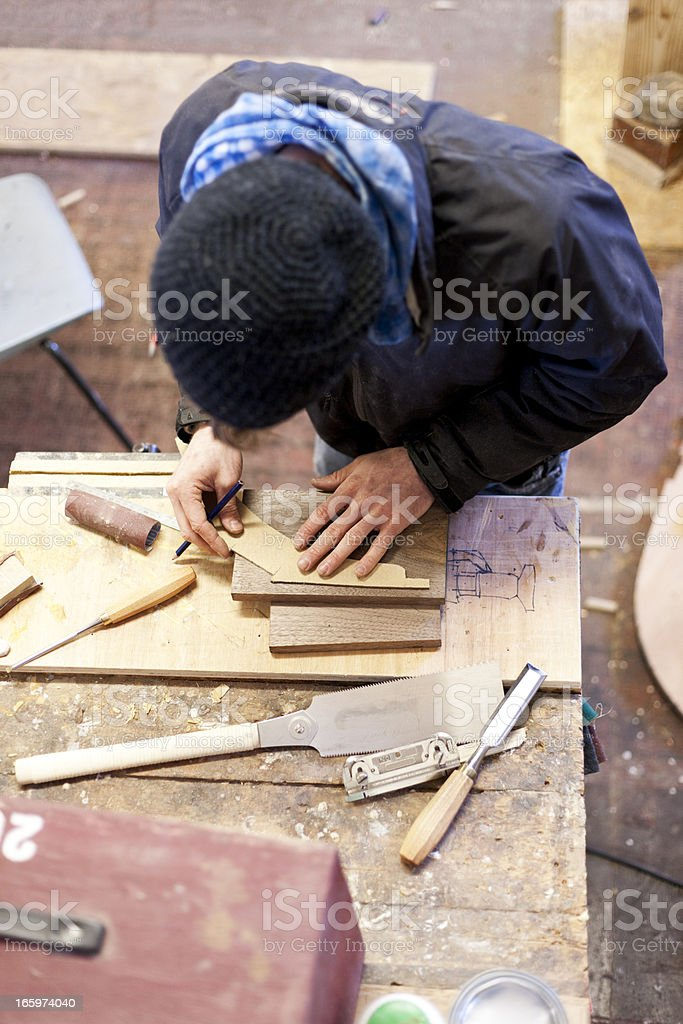 Traditional boat building royalty-free stock photo