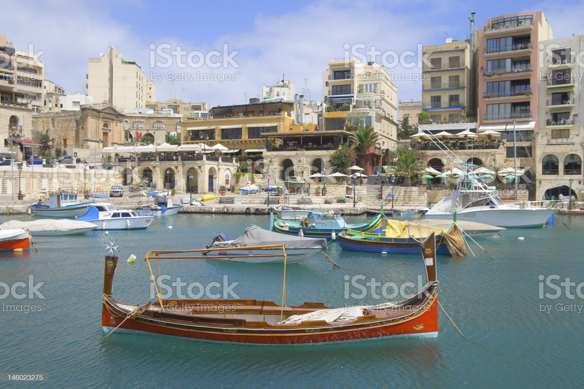 Traditional Boat in St.Julians, Malta royalty-free stock photo