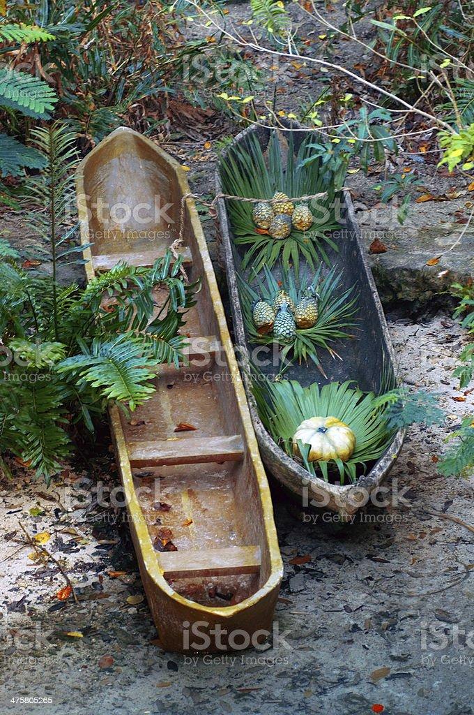 traditional boat Maya stock photo