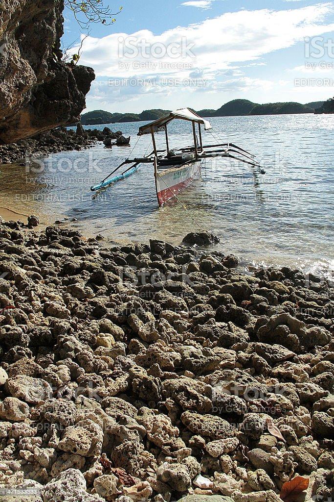 Tradizionale barca, Filippine foto stock royalty-free
