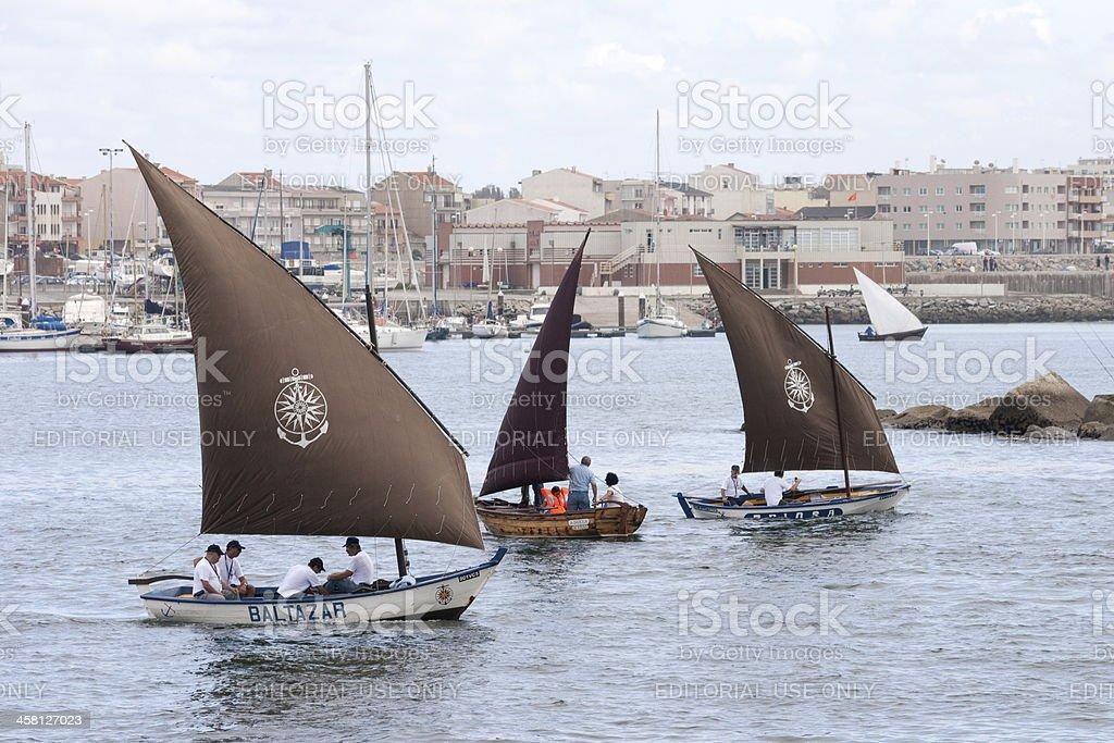 Traditional Boats 'Baltazar', 'A Barola' and 'Briosa' royalty-free stock photo