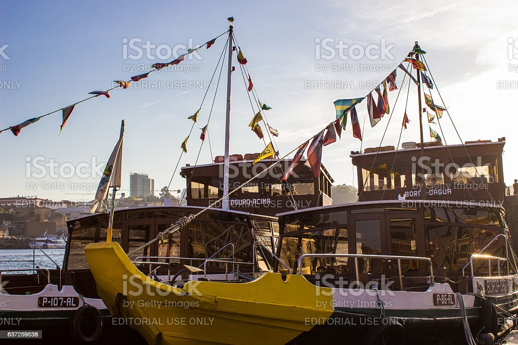 Traditional boats Douro river royalty-free stock photo