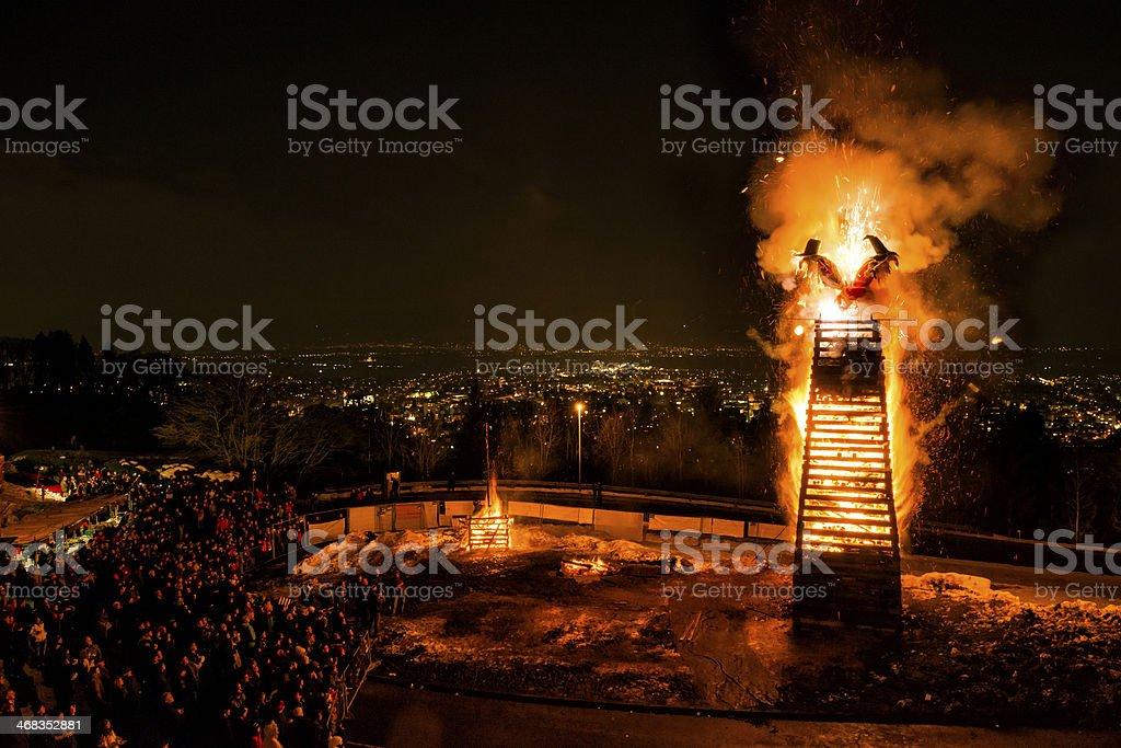 traditional bonfire stock photo