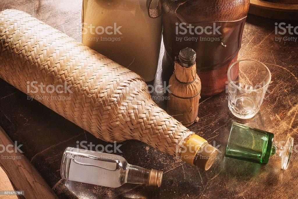 Traditional Brazilian Cachaca stock photo