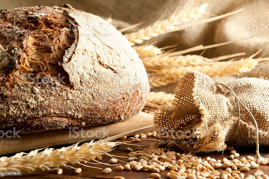Traditional bread stock photo