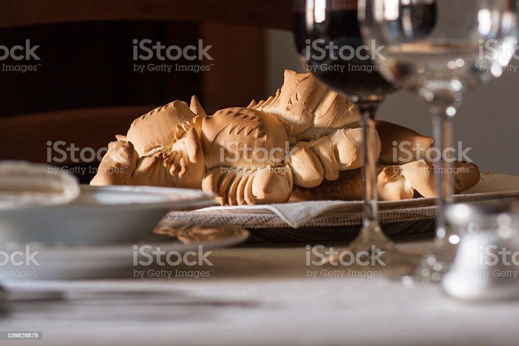 Traditional bread. Sardinia (Italy) stock photo