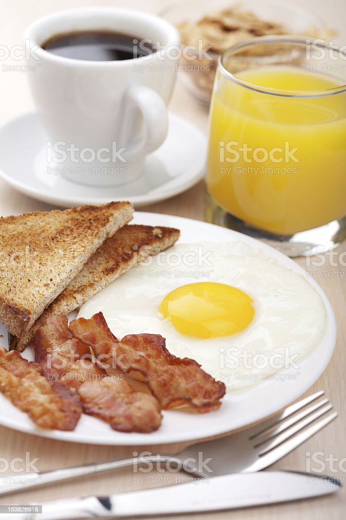 traditional breakfast royalty-free stock photo