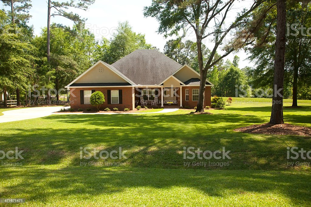 Traditional Brick House stock photo