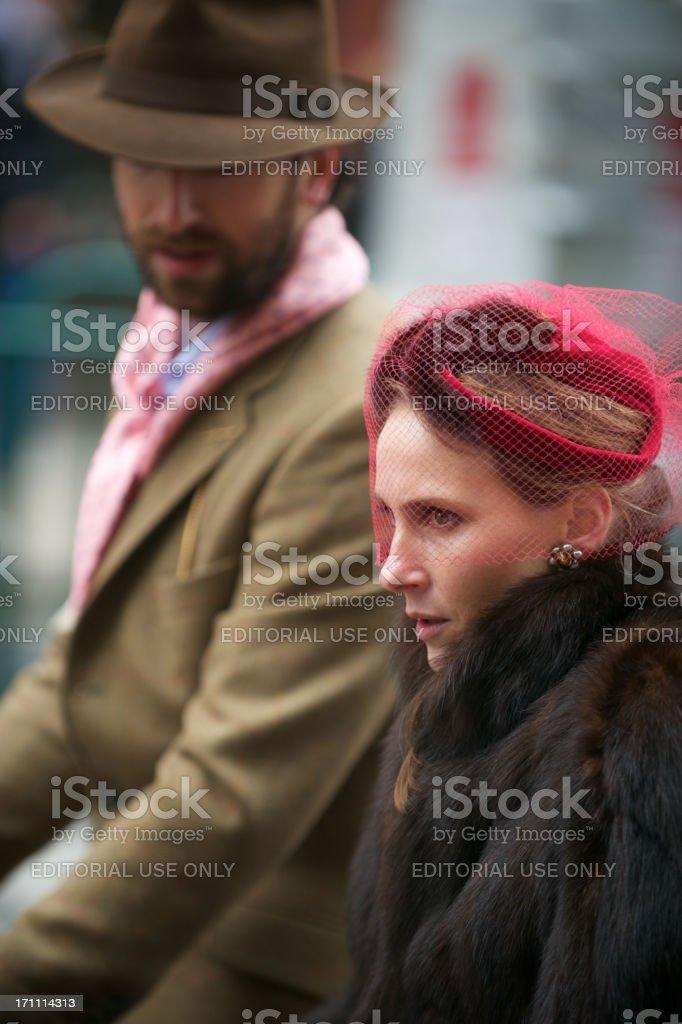 Traditional British Couple on London Street stock photo