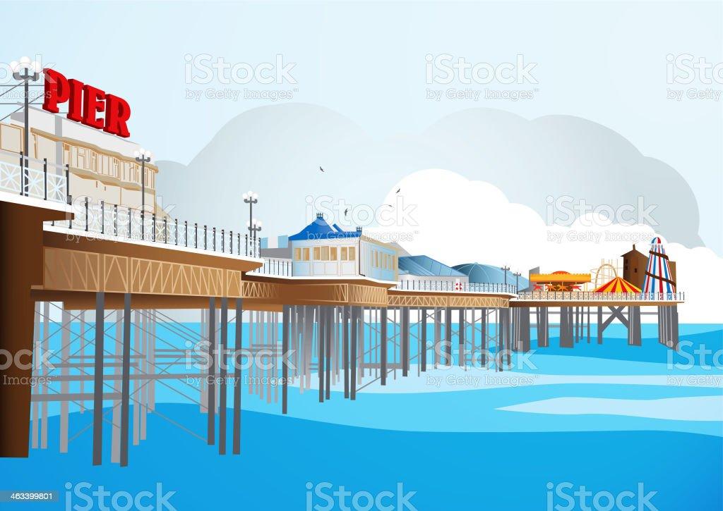 Traditional British Pier - Illustration stock photo