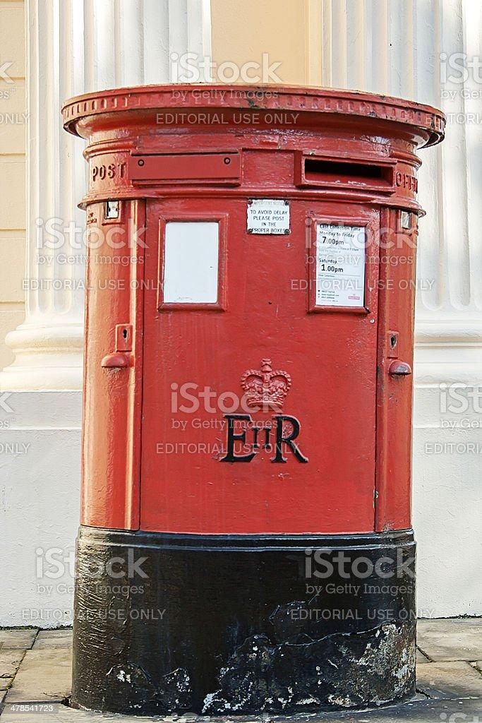Traditional British Post Box royalty-free stock photo