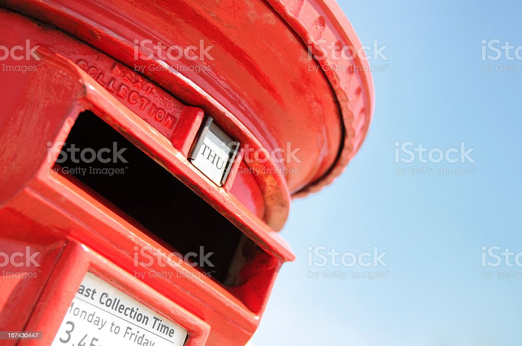 Traditional British Postbox stock photo