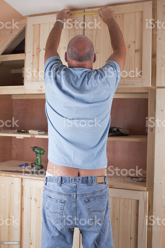 Traditional British Workman Exposed stock photo