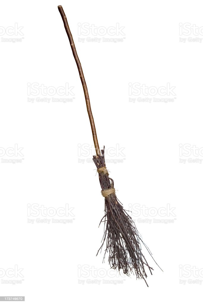 traditional broomstick royalty-free stock photo