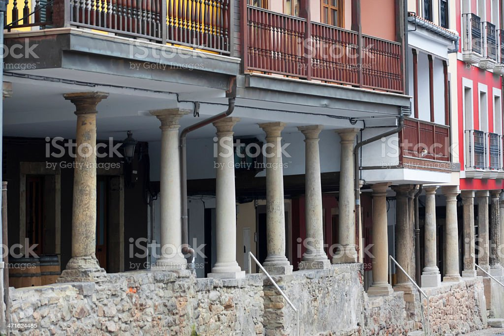 Traditional buildings , Avilés, Spain royalty-free stock photo
