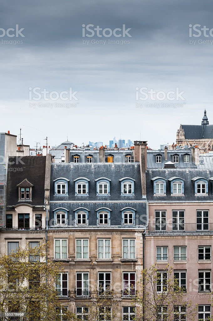 Traditional Buildings in Paris royalty-free stock photo