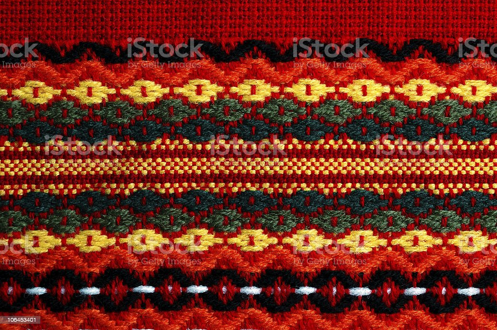 traditional bulgarian  embroidery royalty-free stock photo