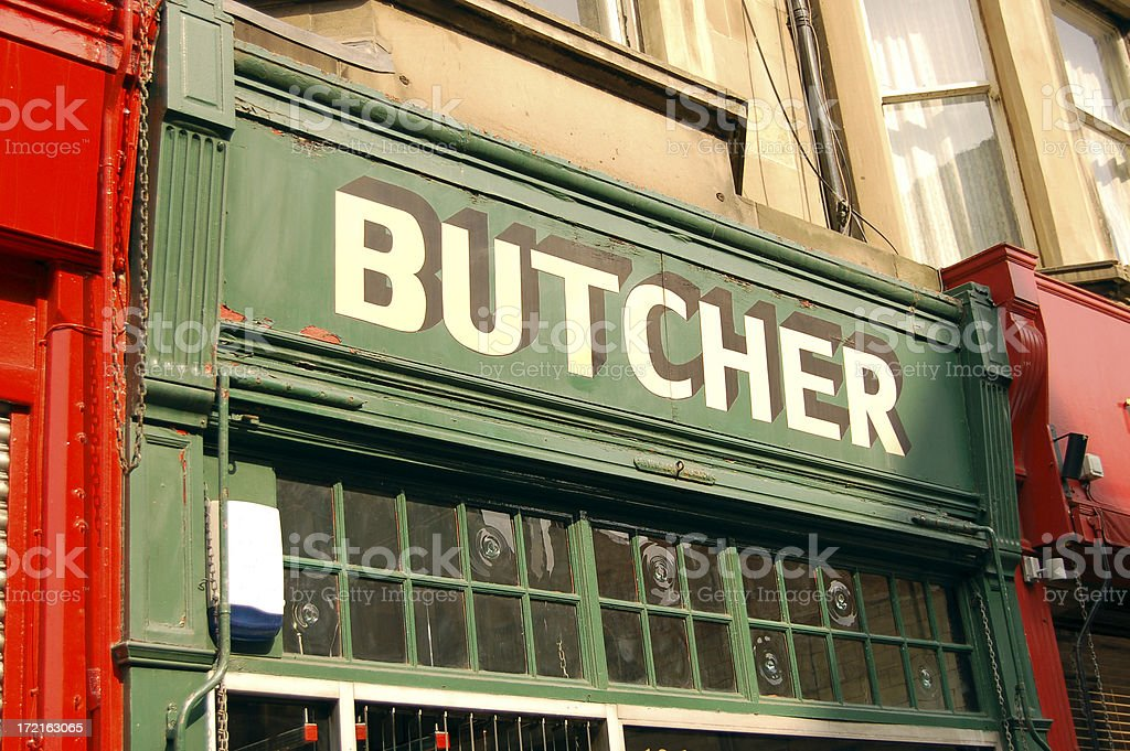 Traditional Butcher stock photo