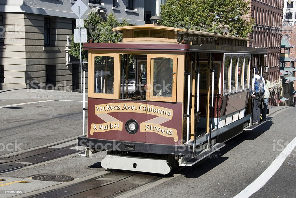 Traditional cable car in San Francisco royalty-free stock photo