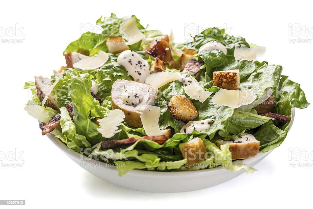 Traditional Caesar Salad stock photo