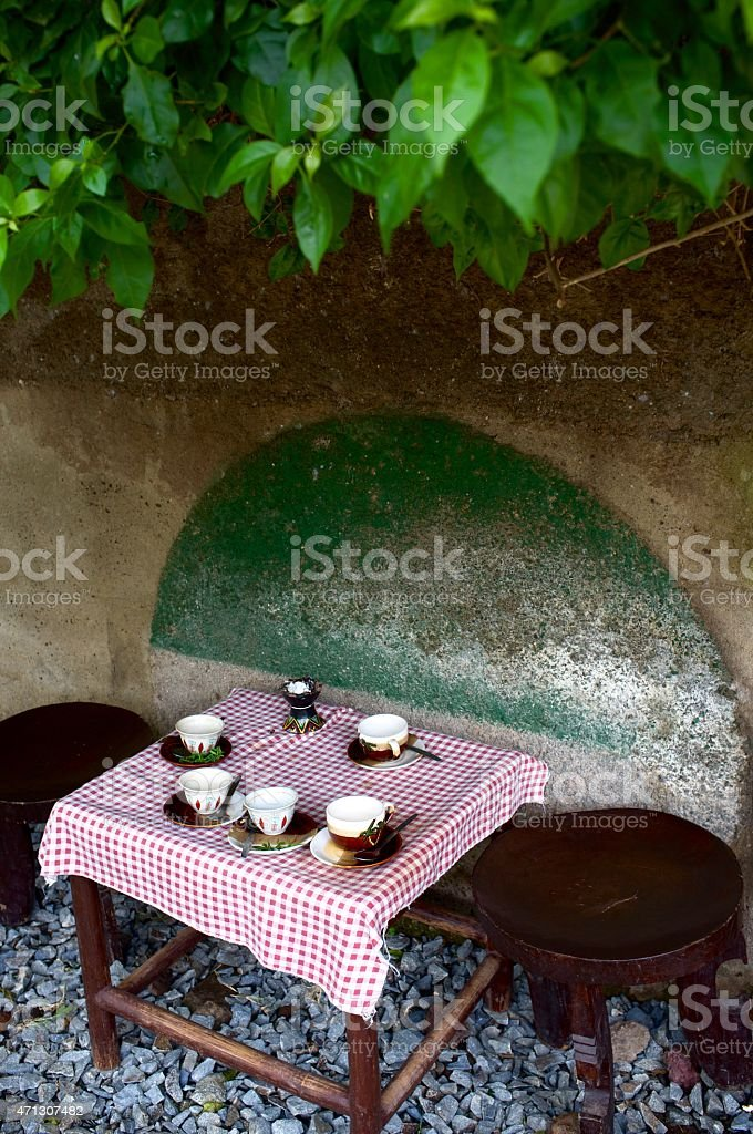 Traditional Cafe in Ethiopia stock photo